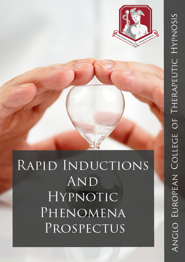 Rapid Inductions and Hypnotic Phenomena Prospectus