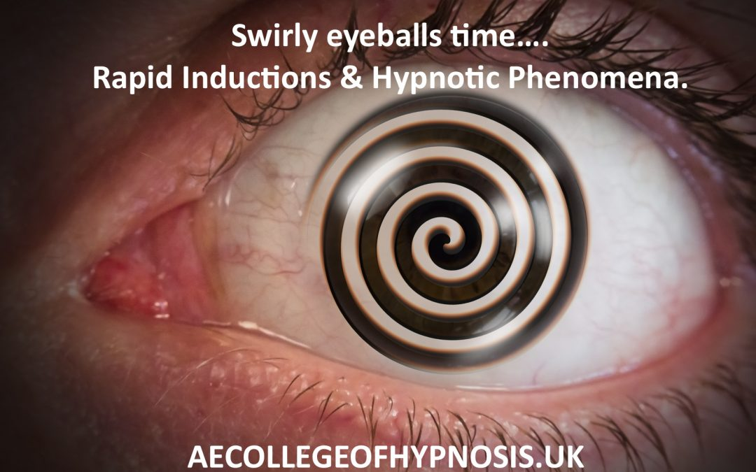 Our Rapid Inductions and Hypnotic Phenomena for Hypnotherapists Seminar Returns: The Stuff of Legend!