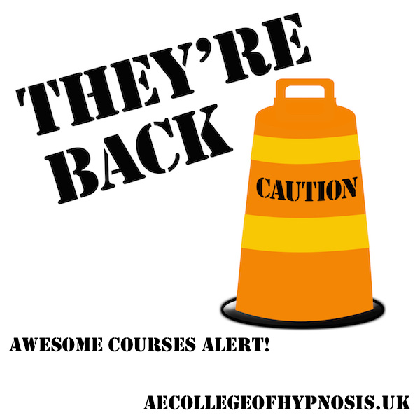 New Dates for Our Cognitive Behavioural Hypnotherapy and Hypnotic Coaching Courses