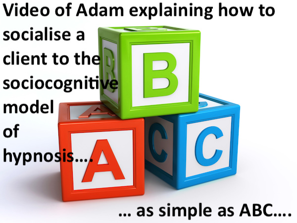 New Vlog: Simple ABC Explanation of the Sociocognitive Model of Hypnosis
