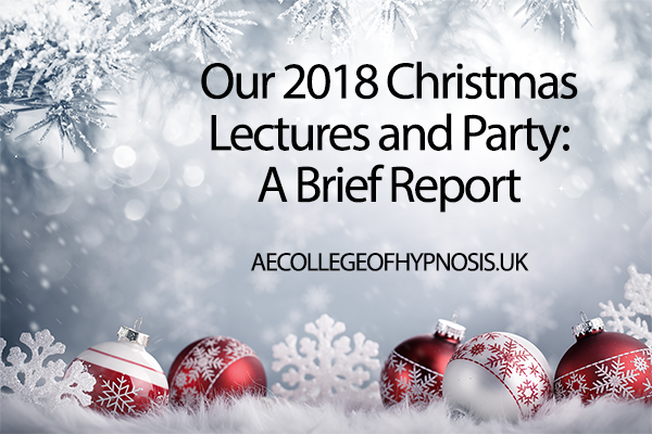 Our Christmas Lectures and Party Rounding Off The Year Nicely: Brief Report