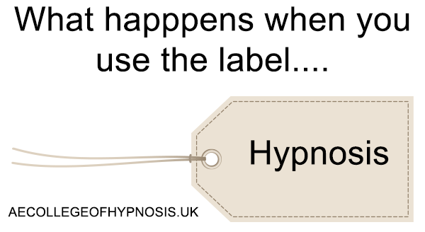 "Video: What happens when you label something ""Hypnosis""?"