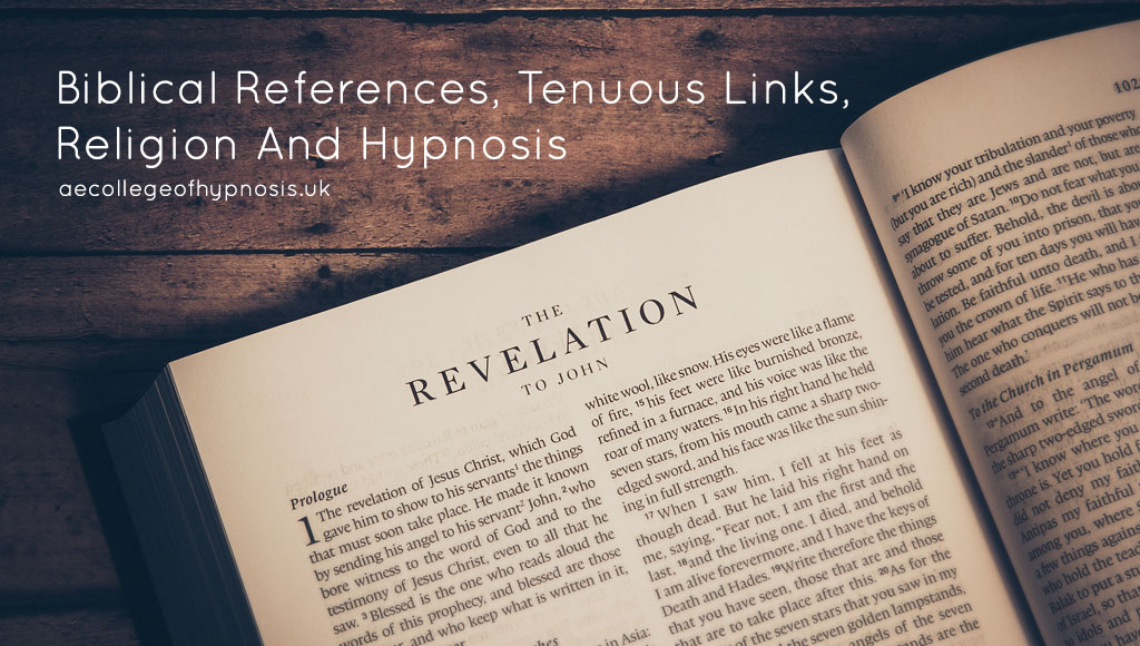 Video: Biblical References, Tenuous Links, Religion And Hypnosis