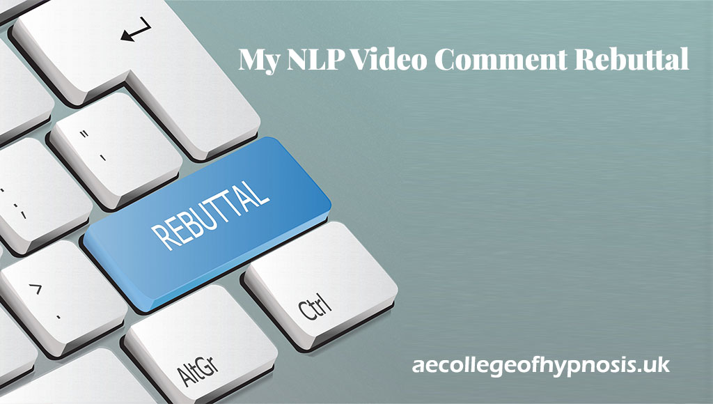 Video : My NLP Video Comment Rebuttal