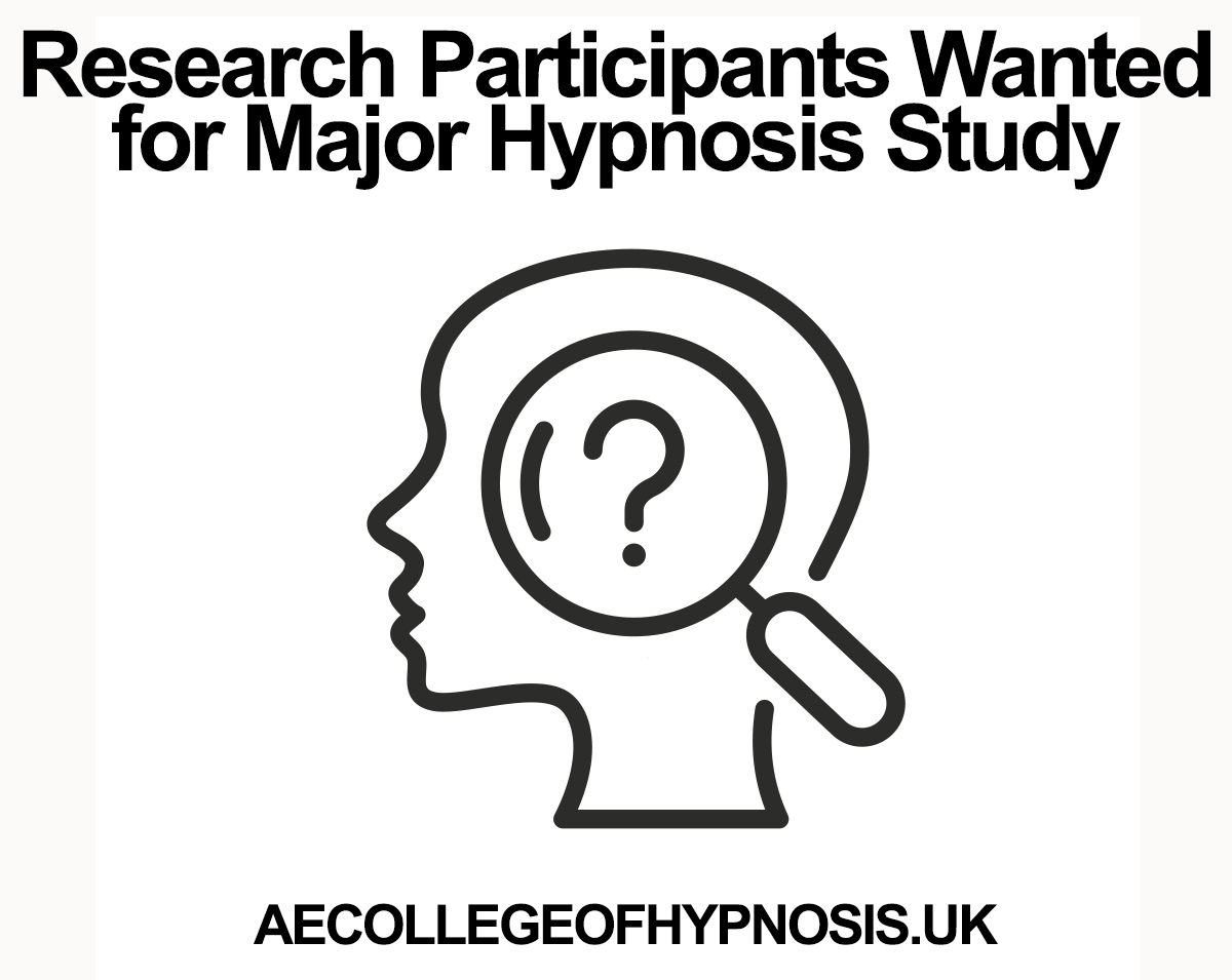We're Recruiting Participants For A Major Hypnosis Study